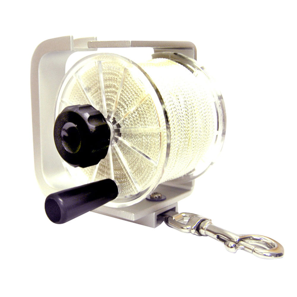 Vaorwne Heavy Duty SMB Reel Dive Wreck Underwater Scuba Diving Dive Reel 150Ft Line with Thumb Stopper
