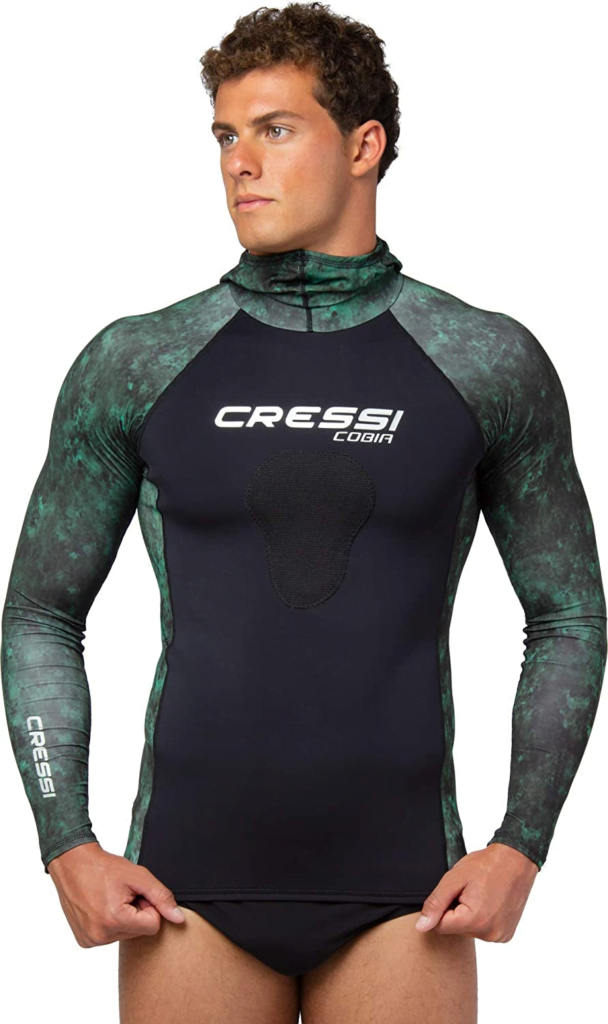 Cressi Adult Camouflage Hooded Rash Guard